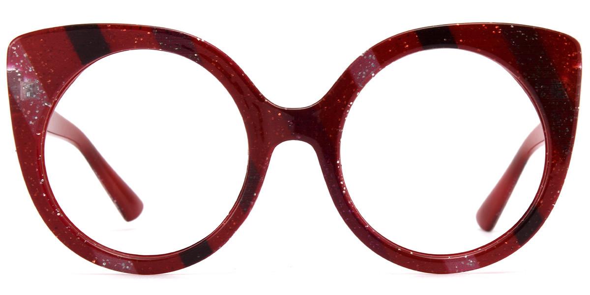 Cateye Red Sparkle Frame