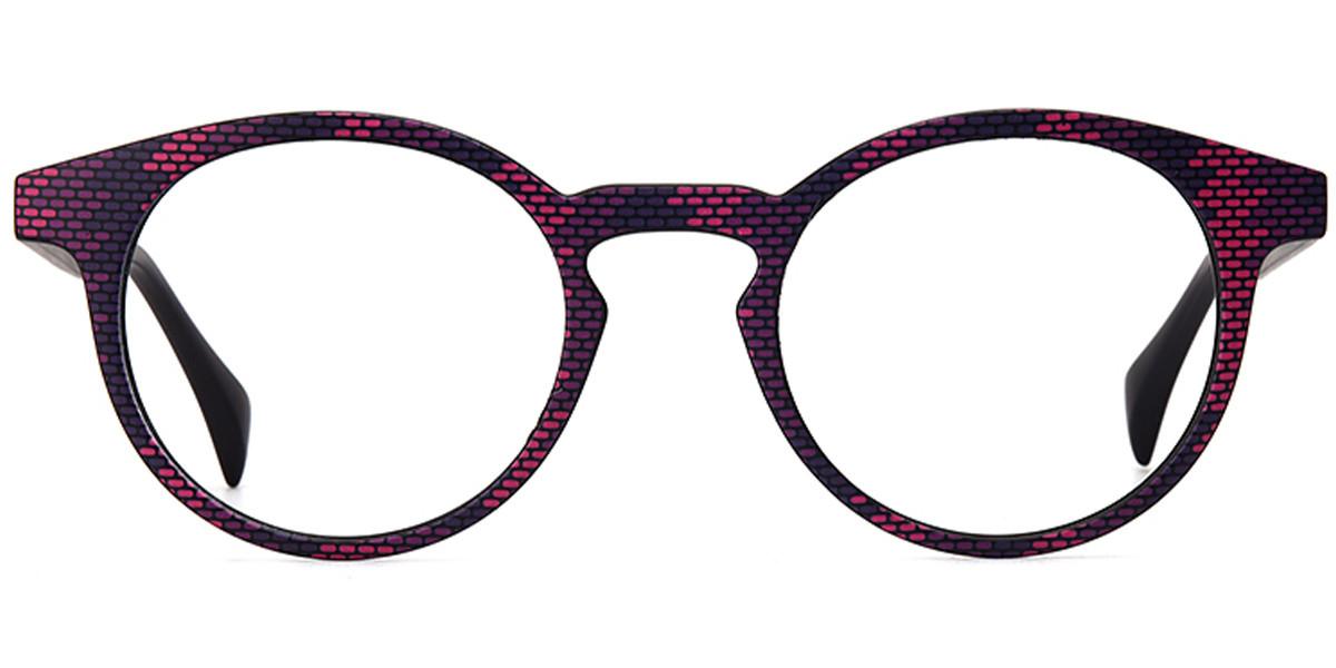 Delena Round Purple Frame
