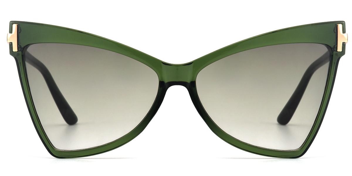 Cateye Green Sunglasses