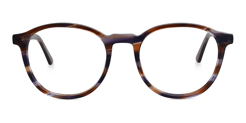Julian Round Brown Frame