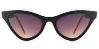 Teri Cateye Black Sunglasses