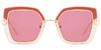 Square Red Sparkle Sunglasses
