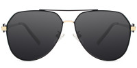 Zaida Aviator Black Sunglasses