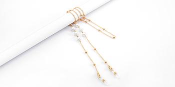 Pearl Gold Eyeglasses Chain