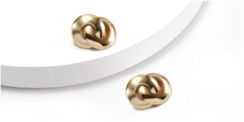 Tied Knot Gold Earring